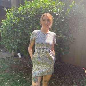 HM Dress Short Sleeve Floral Print Pockets